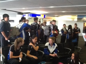 Waiting to board in Perth