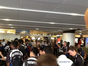Mr Stephens leading the way at Melbourne Airport