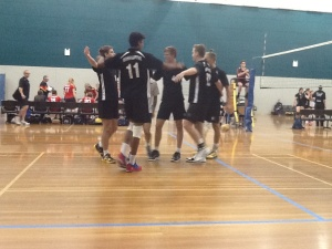 Open honours boys celebrating a point