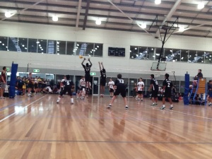 Solomon blocking in U/14 boys game