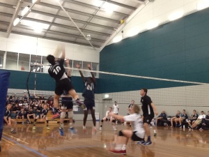 U/17 boys semi-Oswald spiking. Look at that vertical!