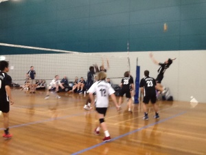 U/17 boys semi - Alvin spiking