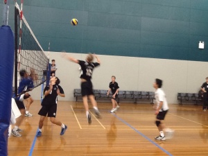 U/16 boys semi - Josh spiking